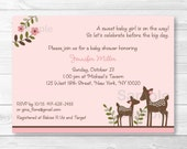 Pink Deer Baby Shower Inv...