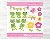 Cute Girl Frog Clipart / ...