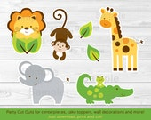 Jungle Safari Animal Cut ...
