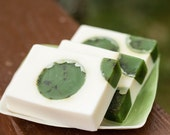 Handmade Shea Butter and Glycerin Soap - Rosemary Mint Soap with Crushed Rosemary