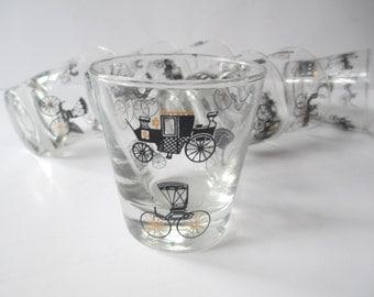 Vintage Libbey Curio Cocktail Glass Set of Seven