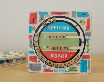 Vintage Bar-Zim Spelling and Counting Board