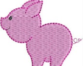 Mini Pig machine embroidery designs
