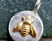 Bee Two Tone Sterling and GF Charm