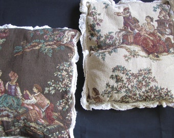 Primitive Toile Pillows