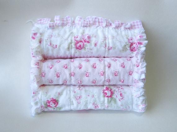 Pink Baby Girl Burp Cloths Shabby Cottage Chic Burp Cloths