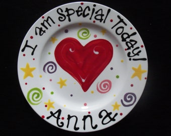 Hand Painted Personalized Special Day Plate