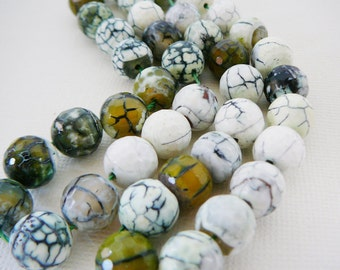 Gemstone Bead, Faceted 10mm Round, half strand jewelry making supplies