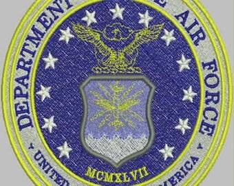 USAF Seal Digitized Embroidery Design