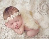 Aphrodite - White Cream Ivory Gold - OR Choose Silver White - Halo Headband Crown - Pearls - Girls Newborns Baby Infant Adults - Photo Prop