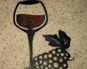 Wine Glass with Grapes-Home decor-wine decor-vineyard decor-wall art-winery art