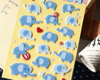 Felt Stickers (P163.38 - Happy Elephant)