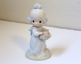 Vintage 'Take Time To Smell the Flowers' Precious Moments Easter Seals Figurine