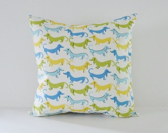 Dog Pillow Cover Decorative Pillows Throw Pillows Blue Pillow All Sizes Cushion Covers