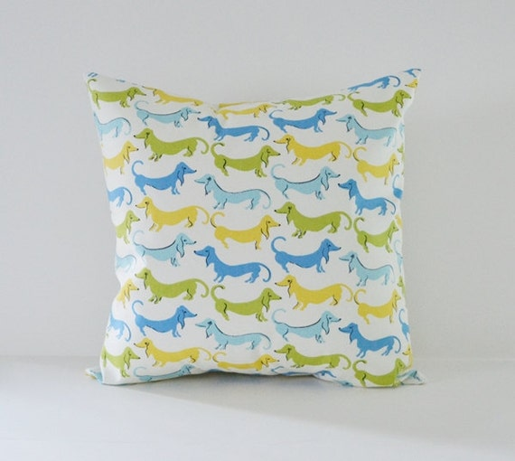 Items similar to Dog Pillow Cover Decorative Pillows Throw Pillows Blue Pillow All Sizes Cushion ...