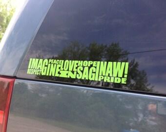 Love Saginaw Michigan - Vinyl Car Decal - Imagine Mural