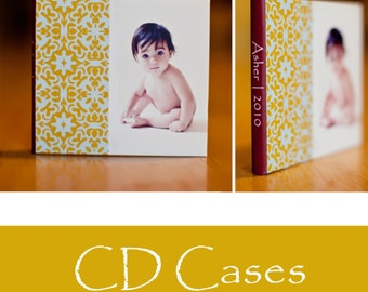 Asher Cd or DVD Case Digital template for photographers.WHCC