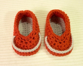 Baby bootees Booties crochet loafer shoes 0-3 months boy