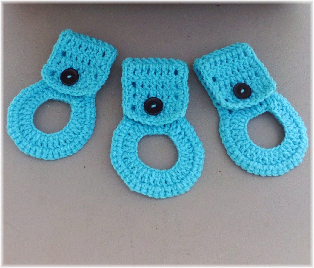 Crochet Kitchen Towel : Kitchen Towel Holders Crochet Towel Hangers by DebbieCrochets