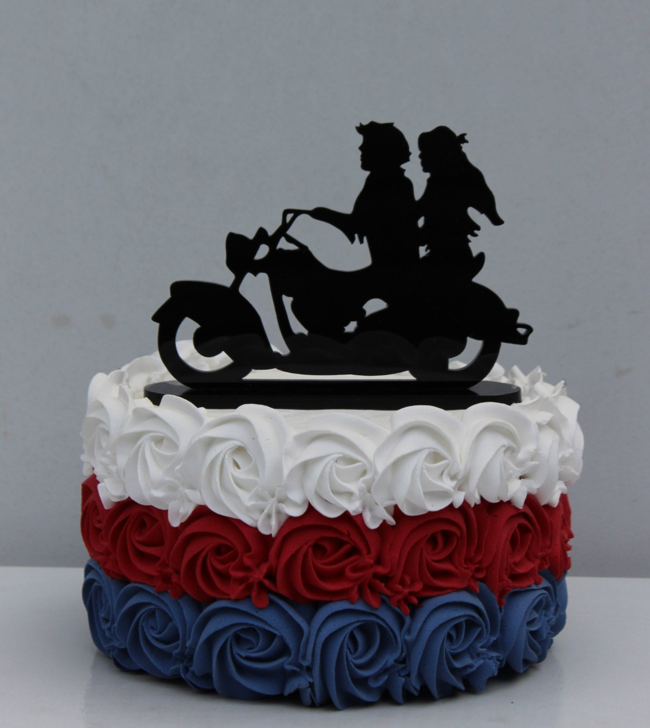 motorcycle biker wedding cake topper motorcyclist by carolinacarla. Black Bedroom Furniture Sets. Home Design Ideas