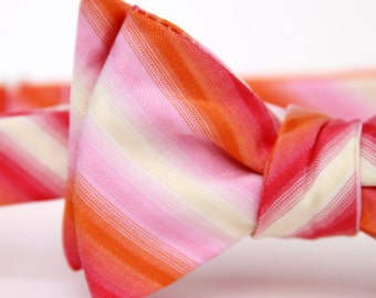 happy stripes freestyle bow tie
