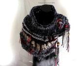 Wearable Art Crochet Neckwarmer Cowl