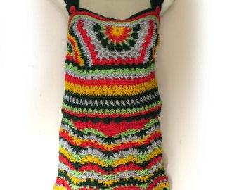 Crochet Boho Hippy Top & skirt