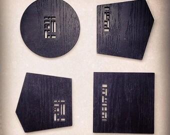 Black Lacquer Coasters // Ysa Series