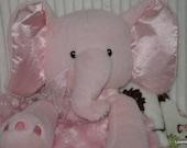Security Blanket, baby blanket, luvi, lovie - Pink Elephant