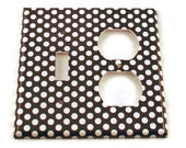 Combo Light Switch Cover Wall Decor Switchplate Switch Plate in  Polka Dots Rock (207TOC)