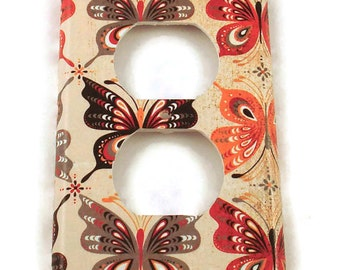 Light Switch Cover Outlet  Wall Decor Switchplate in Mariposa   (805O)