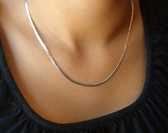 """Necklace, Vintage Sterling Silver 18"""" Chain for Men or Women"""