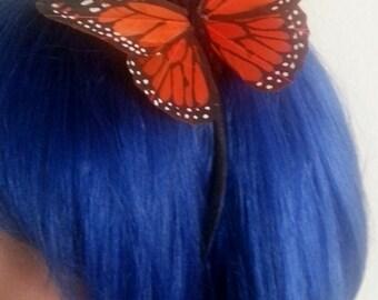 Butterfly,Mariposa, Butterfly headband, butterfly barrette, hair, hair clip,headband, Mariposa clip,ready to ship