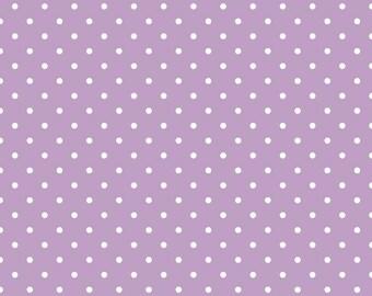 Riley Blake Designs, White Swiss Dot on Lavender  (C670 125)