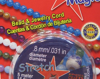 Clear Stretch Magic Cord Bead and Jewelry Cord Clear .8mm 16 ft