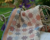 quilt embroidered shabby country dollhouse scale COUNTRY cabin miniature katie arthur