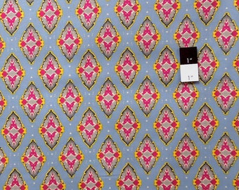 CLEARANCE Free Spirit Design Loft PWFS006 Kaleidoscope Foulard Yellow Cotton Fabric 1 Yard
