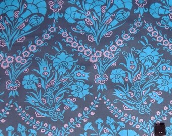 Amy Butler PWAB094 Cameo Josephine's Bouquet Slate Cotton Fabric 1 Yard