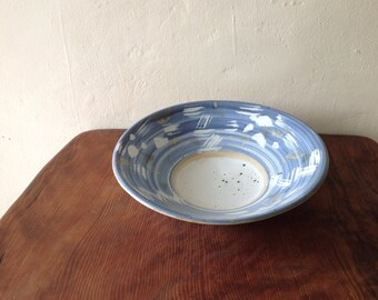 Vintage Large Handmade Ceramic Bowl.