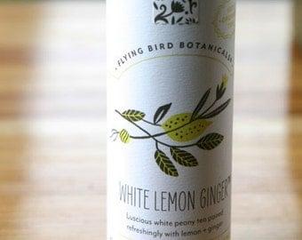 0483 White Lemon Ginger tea, fine loose leaf exotic tea