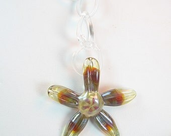 Handmade Borosilicate Glass Chain Necklace with Lampwork Starfish