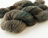 Hand Dyed Sock Yarn - Superwash Merino Wool & Nylon - Fingering Weight - Whetstone OOAK