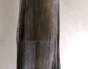 Sheer Grey Silk Maxi Overdress