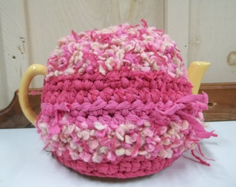 Teapot Cozy Cosy Pink Recycled