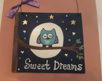 Owl Wall Hanging - Sweet Dreams