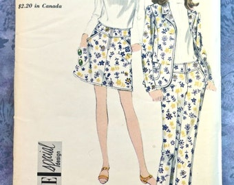 Vogue 7005 - Vintage 1960s Womens Jacket, Skirt, and Pants Pattern