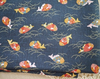 Japanese Cotton With Fishes (Last Piece)