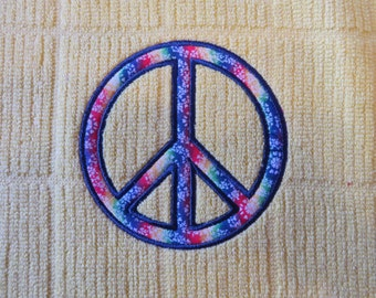 Peace Sign Applique  Embroidery Designs  - 4x4  - CUSTOM REQUEST WELCOME