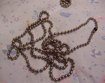 vintage stainless steel ball chain