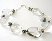 Clear Quartz Stone Nugget Chunky Necklace